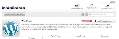 wordpress-cpanel-installatron