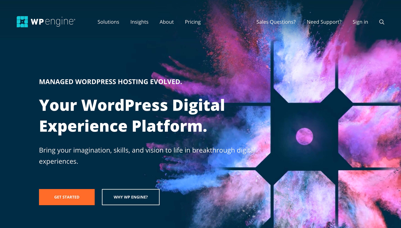 wpengine托管的wordpress托管提供商