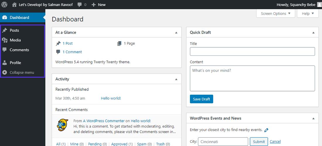 Hiding the sensitive admin menus to non-admin users using actions