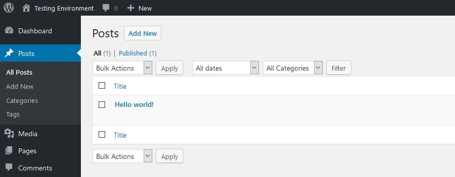 数据库重置插件Hello World