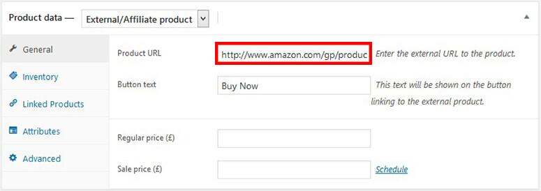 添加亚马逊产品链接