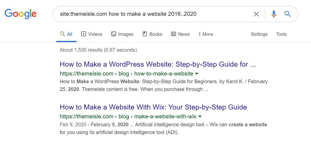 Google搜索运算符示例