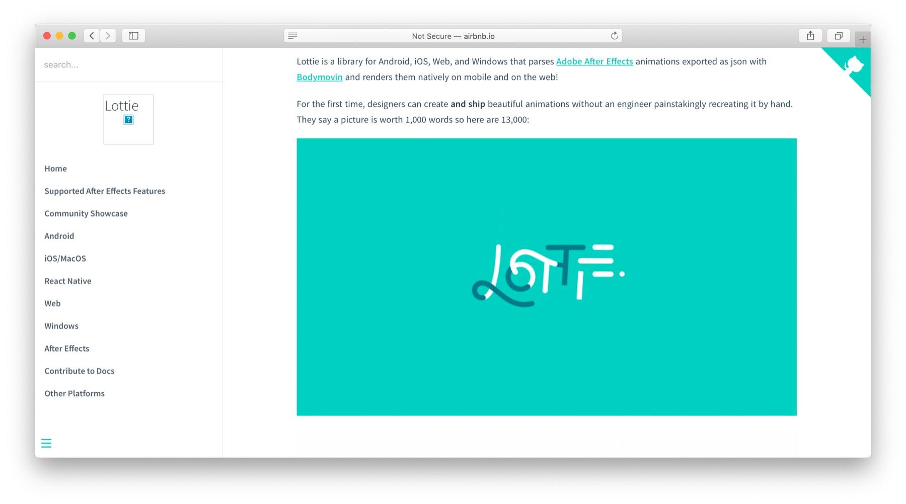 JavaScript动画库:Lottie