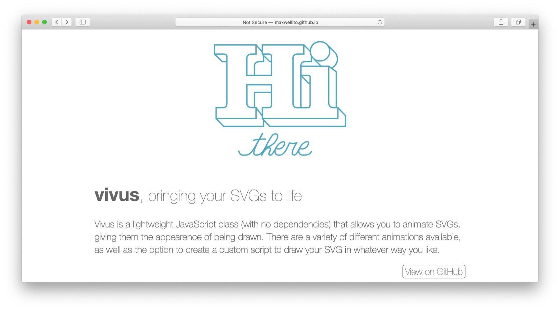 JavaScript动画库:Vivus