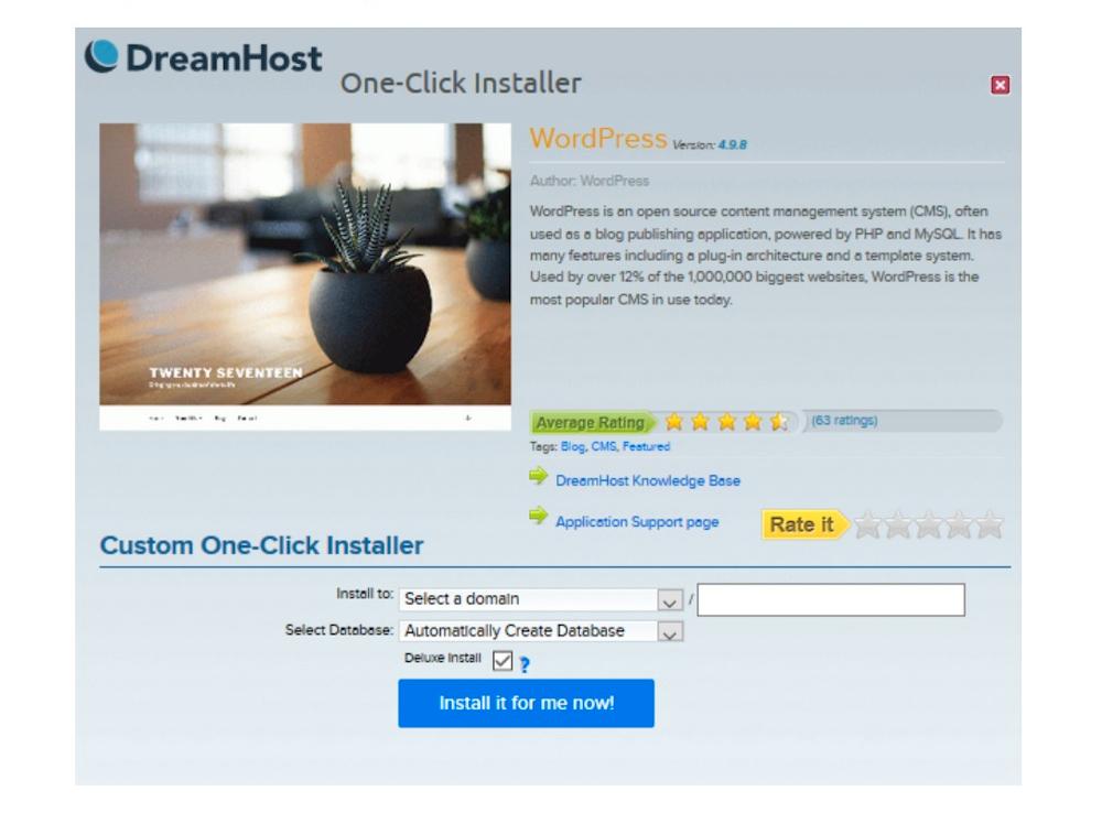 DreamHost安装