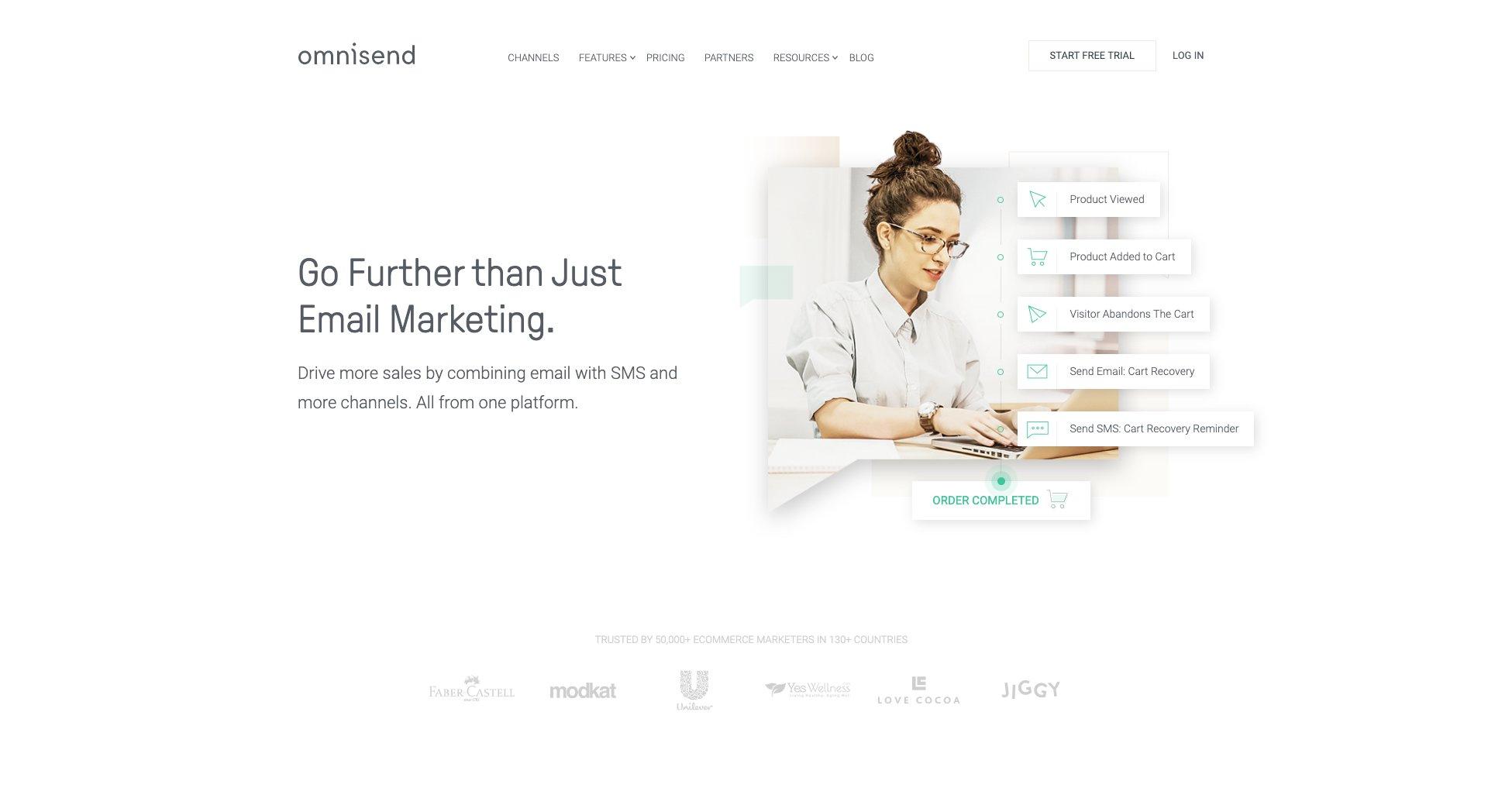 Omnisend是一款多功能的WooCommerce电子邮件营销解决方案