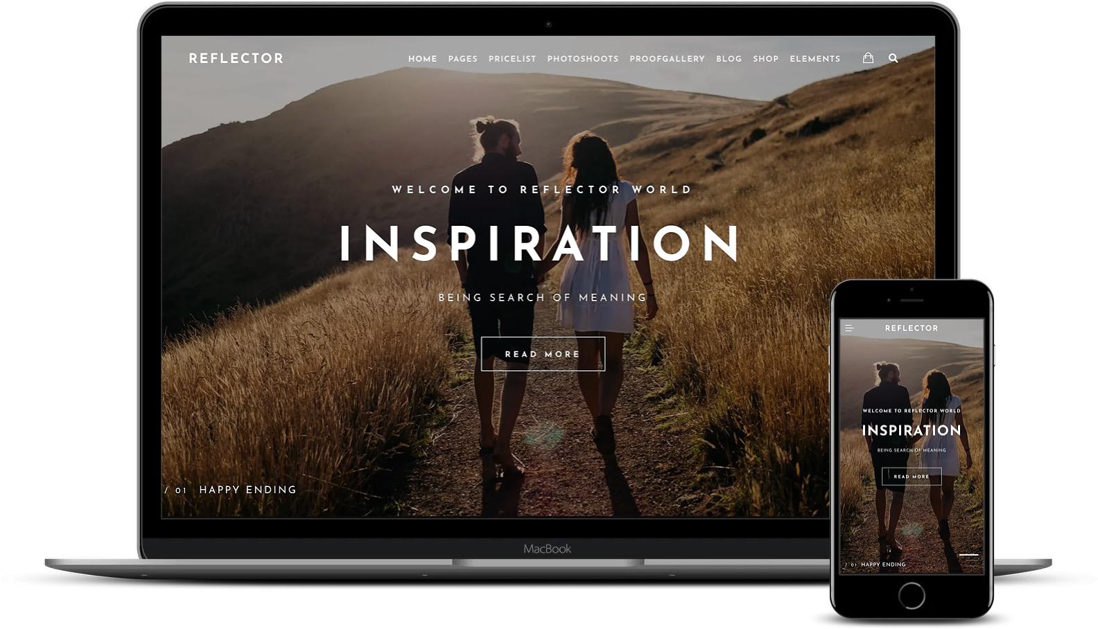 Reflector是摄影师的WordPress主题