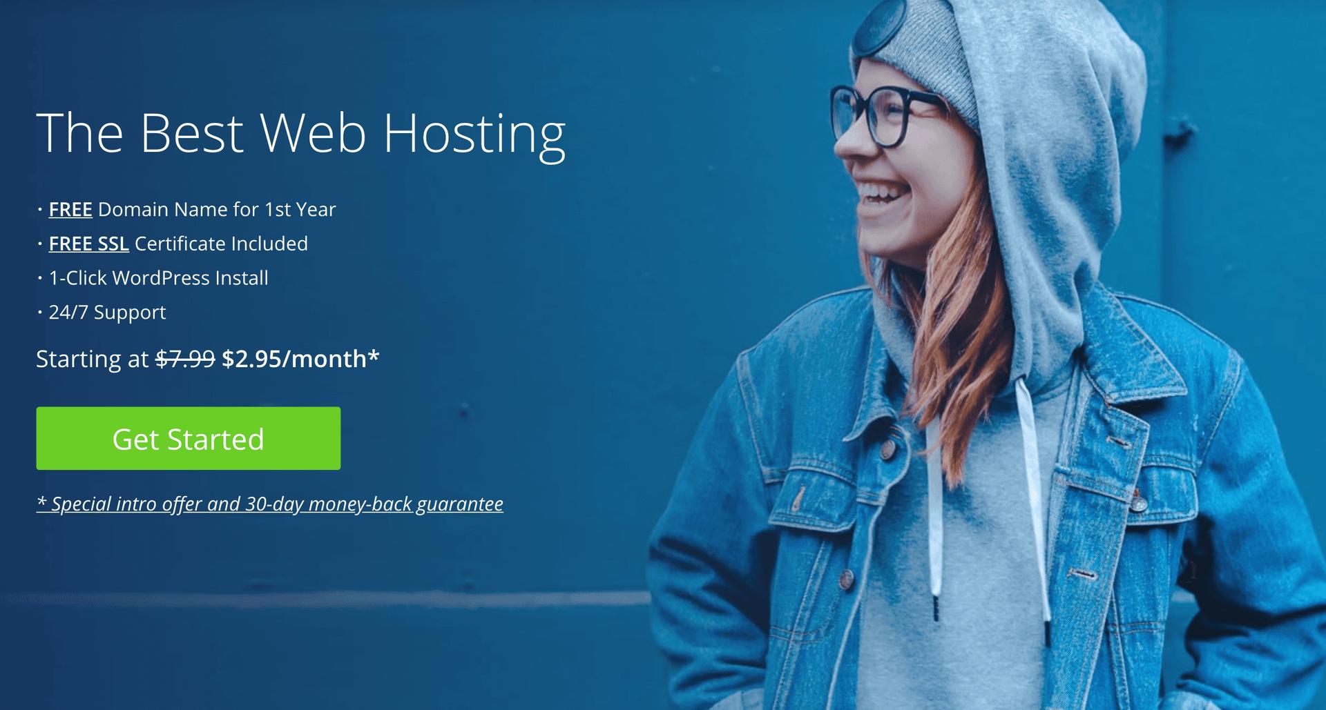 Bluehost是我们最佳共享主机的最佳选择之一。