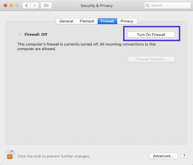 macOS中的防火墙应用程序