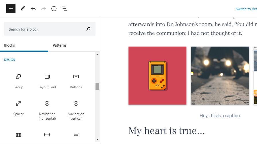 gutenberg-8-3-更新块类别,包括父块选择器,并添加新的设计控件。Gutenberg 8.3更新了块类别,包括了父块选择器,并添加了新的设计控件。
