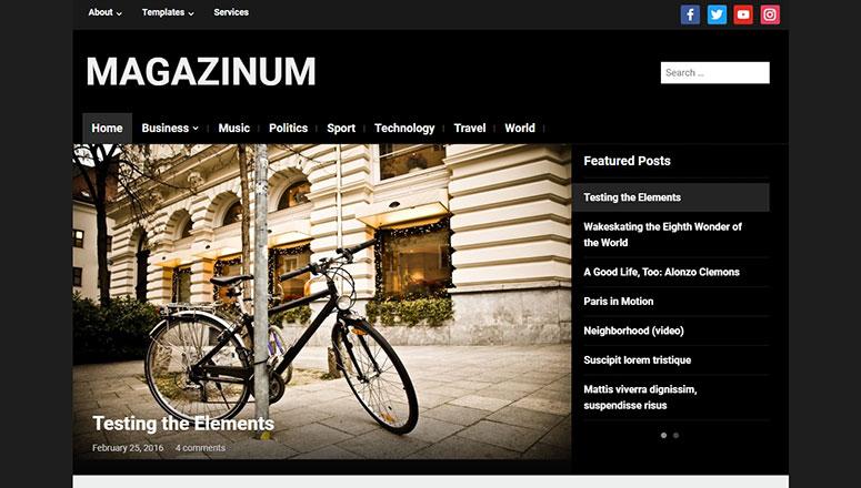 Magazinum最佳WordPress视频主题