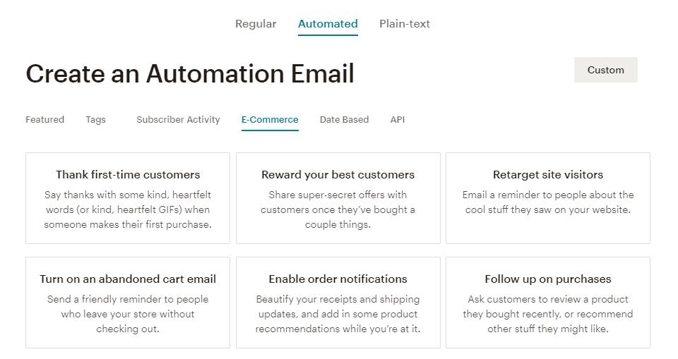 mailchimp自动化