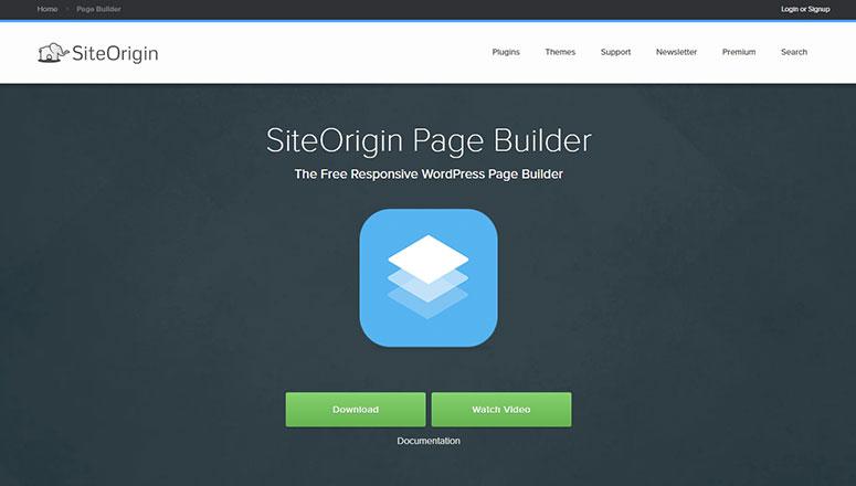 SiteOrigin的页面构建器