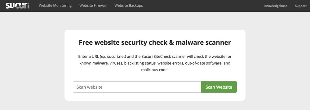Sucuri SiteCheck扫描仪