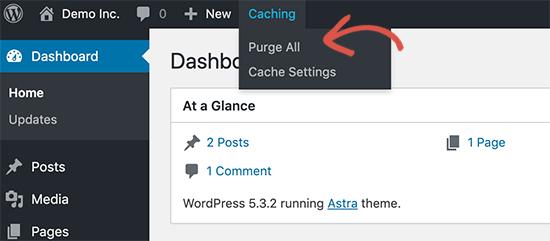 如何清除WordPress中的缓存