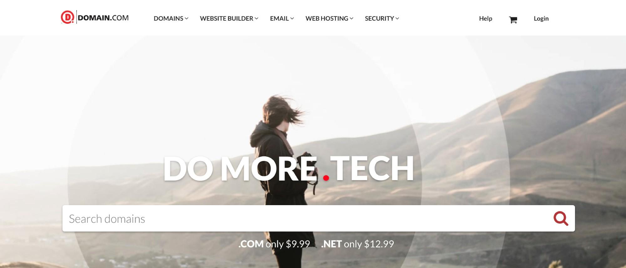 Domain.com网站提供待售的高级域名