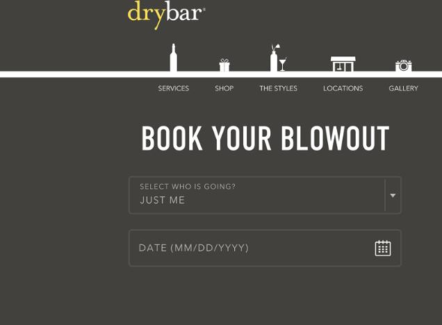 Drybar注册表格