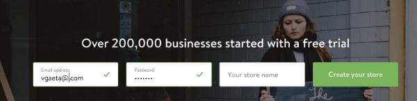Shopify订阅表格