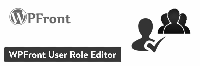""" WPFront用户角色编辑器""插件"