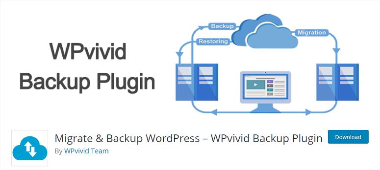 WPvivid,迁移插件