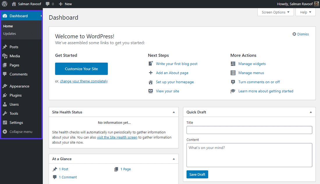 "WordPress中的""管理员""角色仪表板"