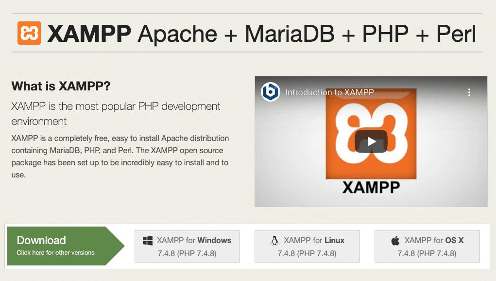 Apache Friends网站