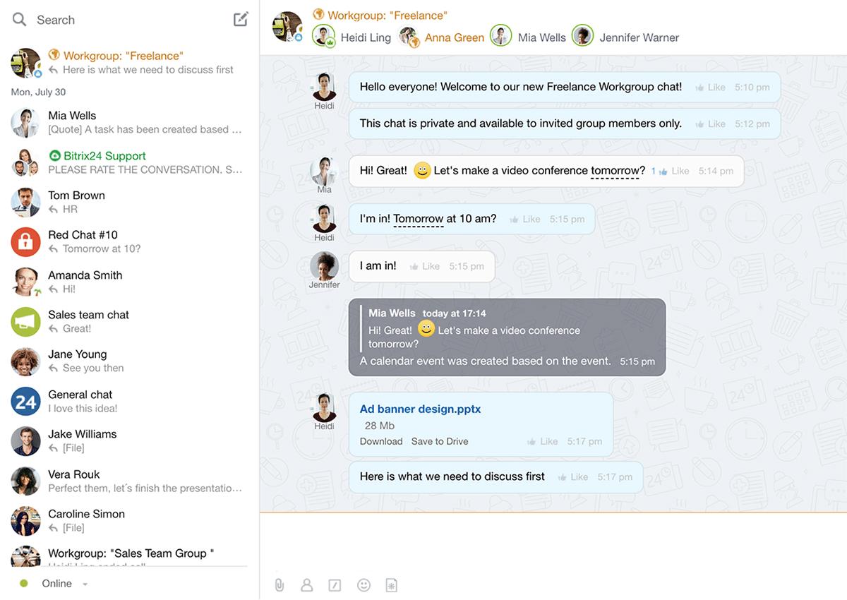 bitrix24聊天界面