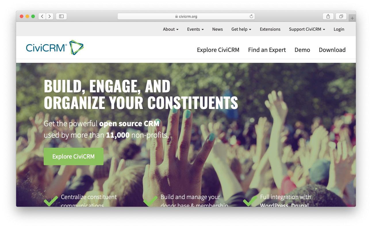 最佳免费和开源CRM:civicrm