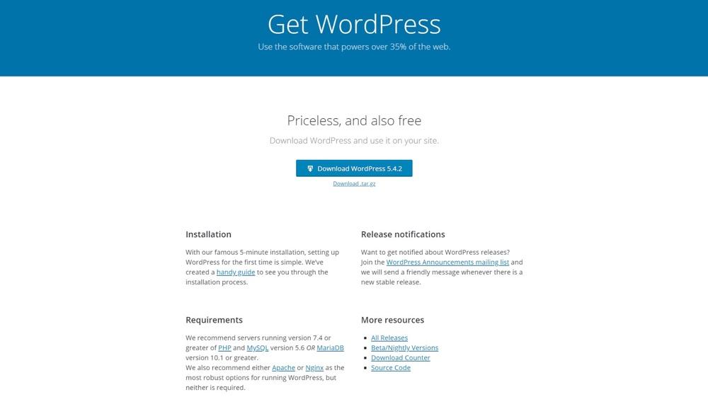 WordPress静态页面