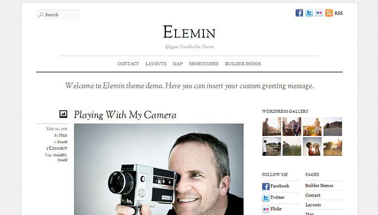 Elemin,图形设计师的WordPress主题