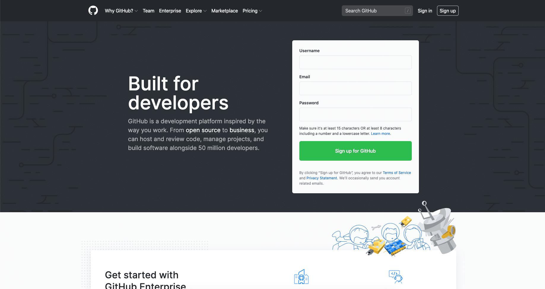 GitHub网站首页