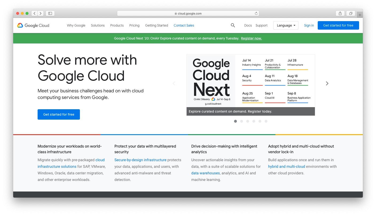 DigitalOcean替代品:Google Cloud