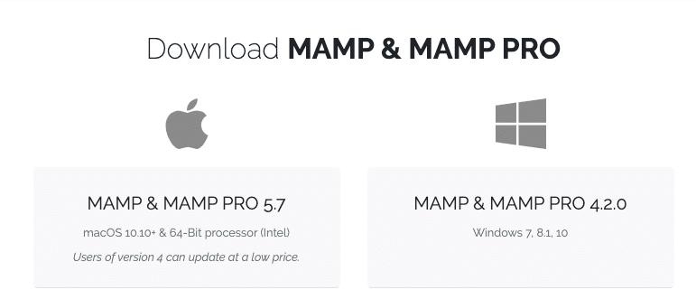 MAMP下载画面