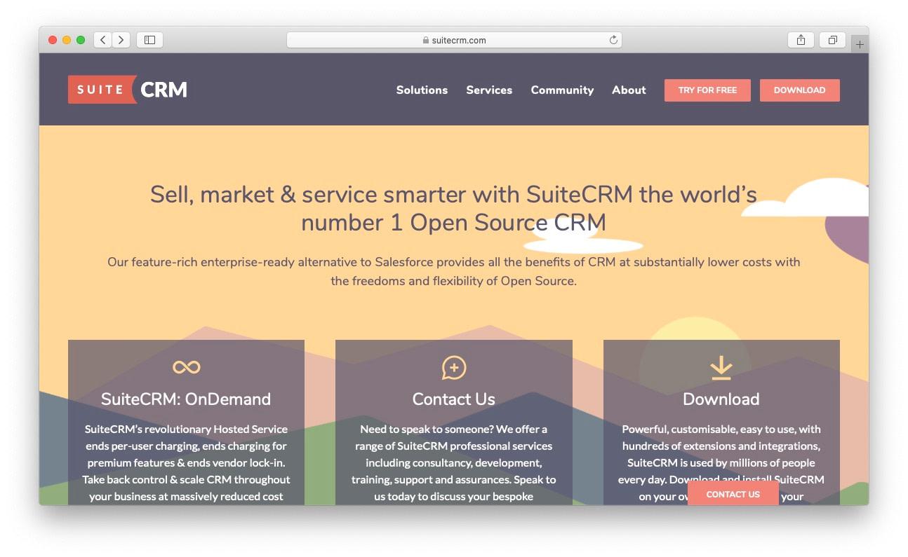 最佳免费和开源CRM:Suitecrm