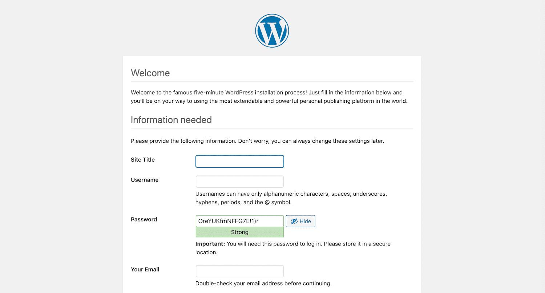 WordPress安装向导