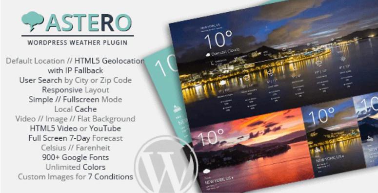 WordPress天气插件Astero