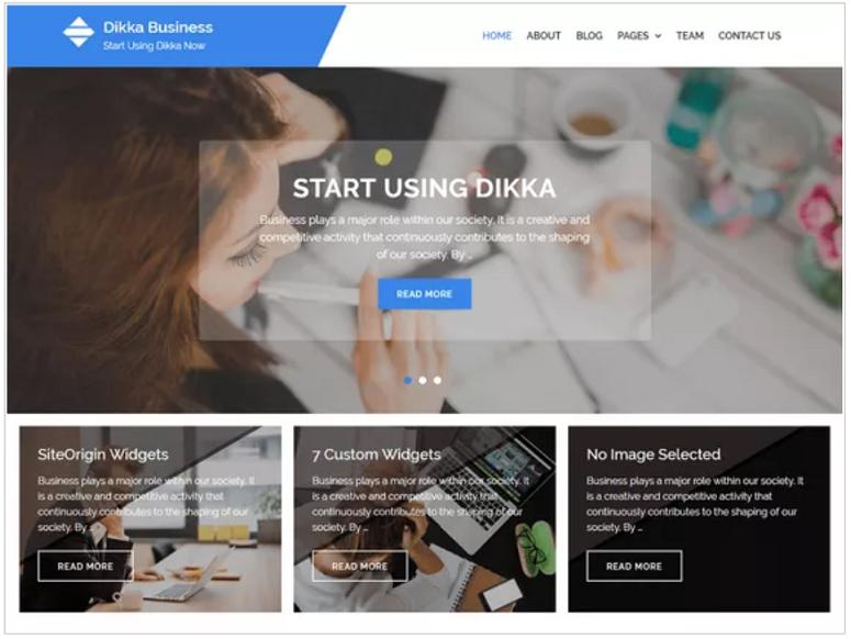Dikka_Business_WordPress_theme,金融主题
