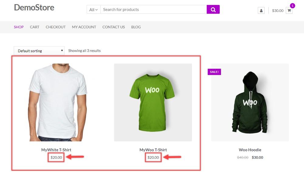 ELEX WooCommerce大宗价格应用