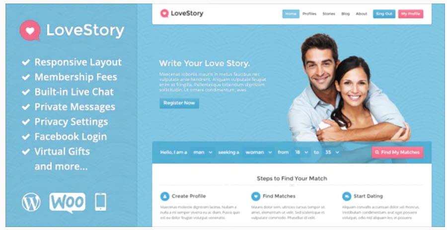 LoveStory-WordPress会员主题