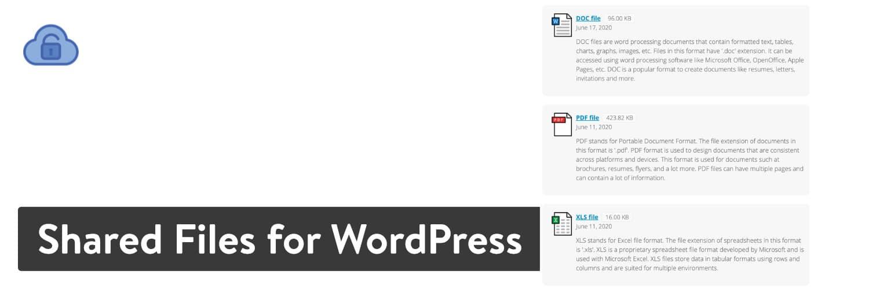 WordPress插件的共享文件