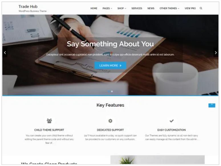 Trade_Hub_WordPress_theme