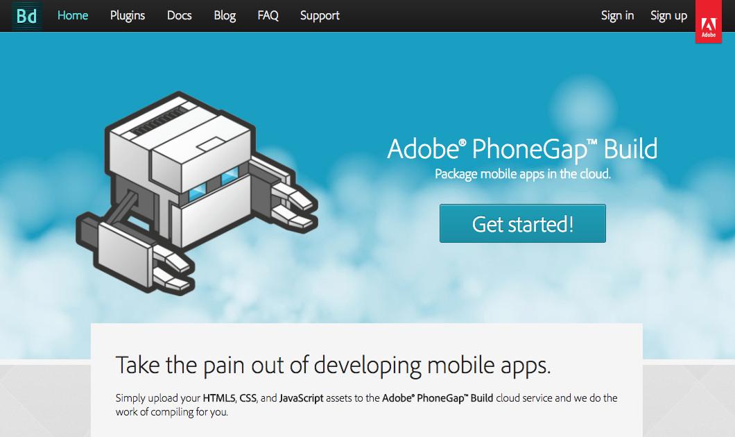 Adobe PhoneGap构建