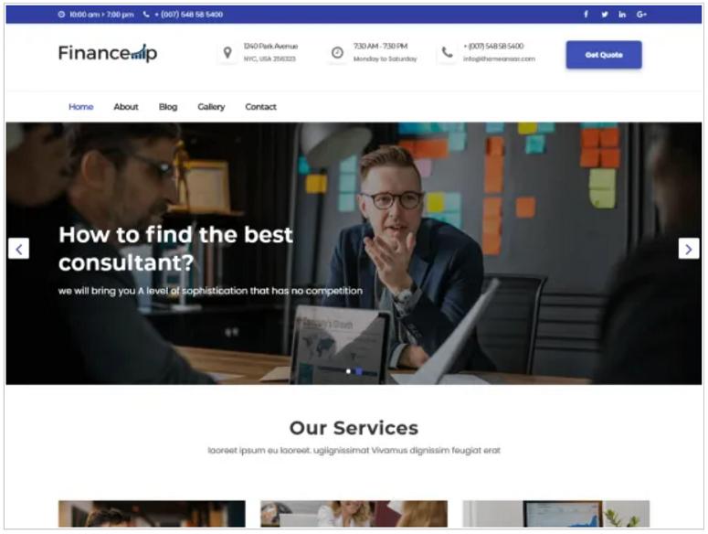 financeup_WordPress_theme_WordPress_org