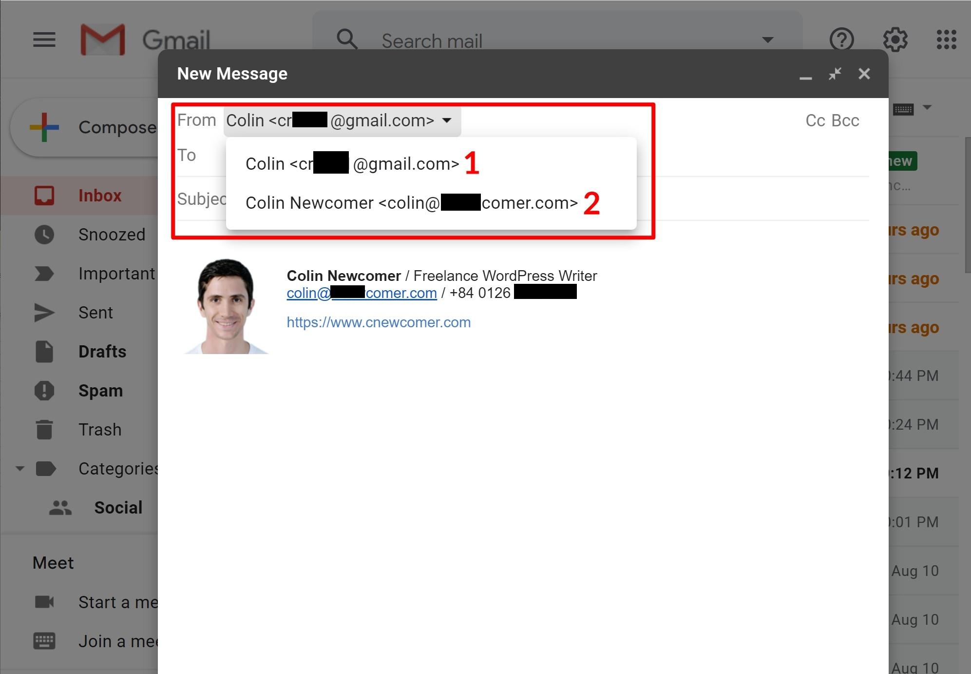 如何通过自己的自定义域名使用Gmail
