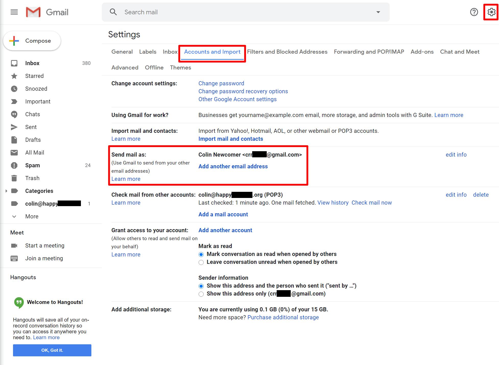 访问Gmail SMTP设置