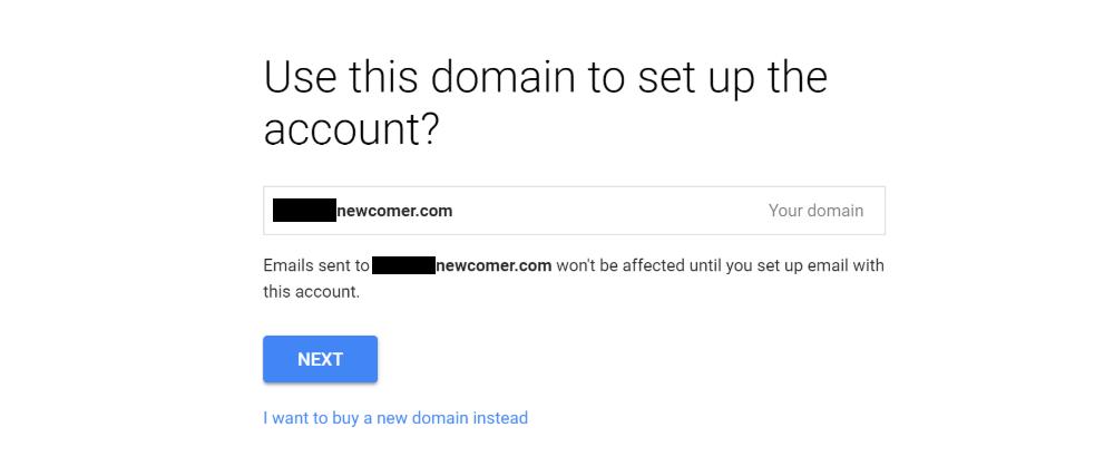 具有您自己的自定义域名的Gmail:确认域名