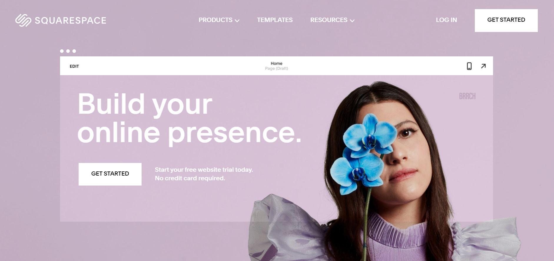 Squarespace网站构建器。