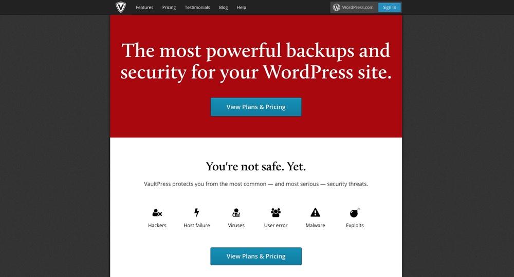 VaultPress WordPress备份插件