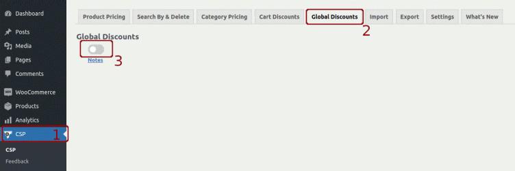 WISDM客户特定的全球折扣