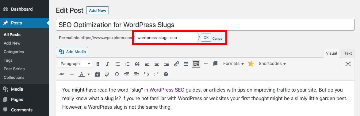 WordPress Slug设定